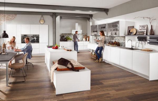 Nobilia Inline 551 Kitchen in honed alpine white